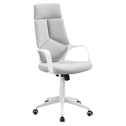 Killian Modern White + Gray High Back Office Chair