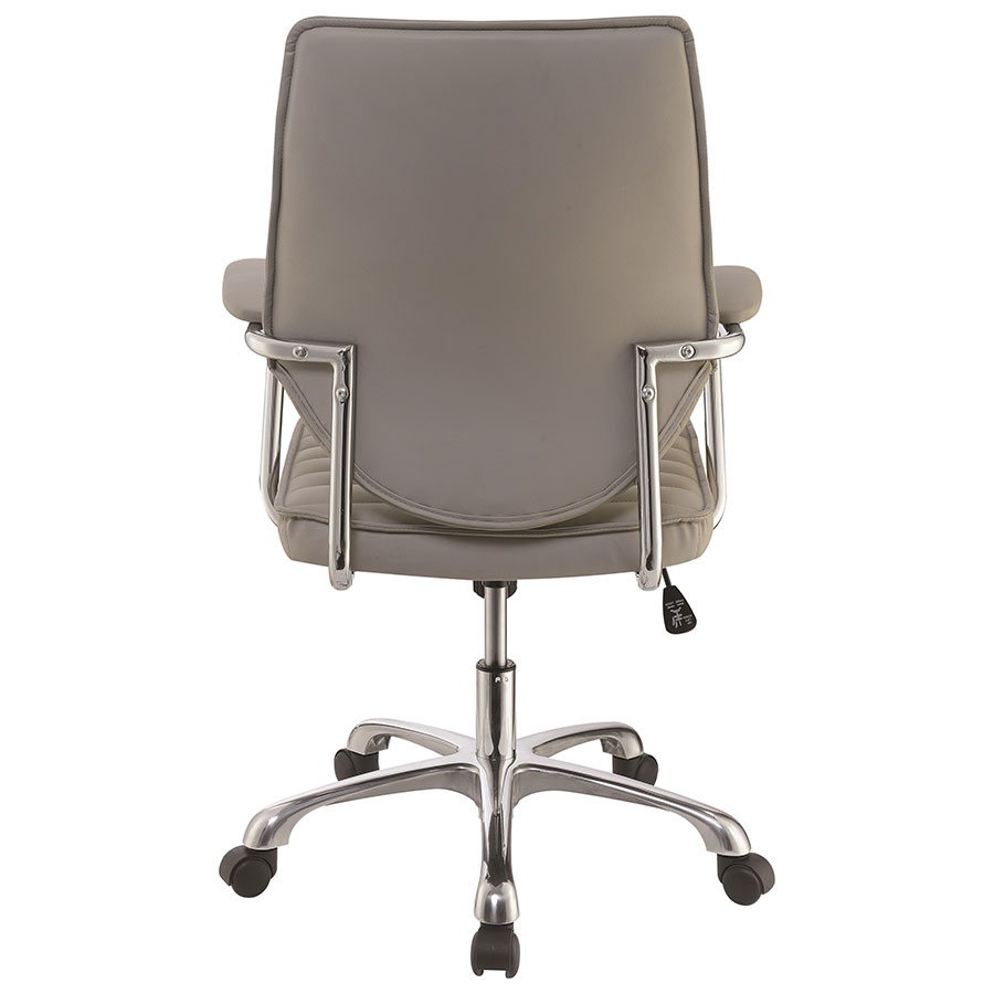 ... Kimball Modern Taupe Office Chair   Back View ...