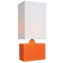 Kirby Modern Table Lamp in Orange