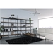 BDi Kite Modern 5-Tier Shelving Unit in Toasted Walnut + Black Steel Frame - Lifestyle