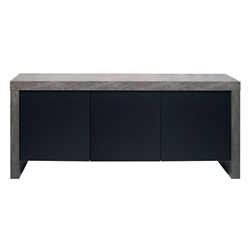 Kobe 3 Door Sideboard Concrete by TemaHome
