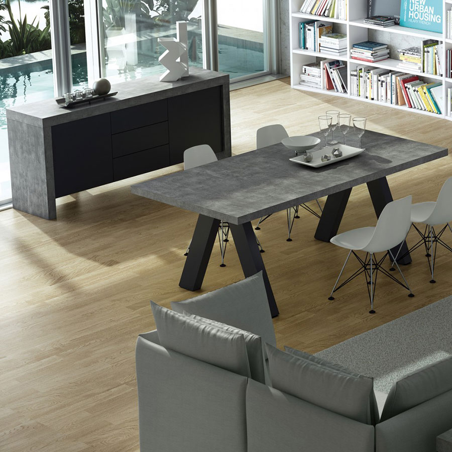 ... Kobe Modern Buffet With Apex Extension Dining Table