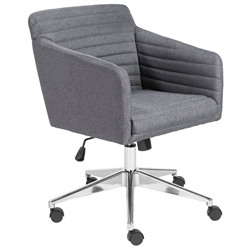 Kris Modern Gray Fabric Office Chair by Euro Style