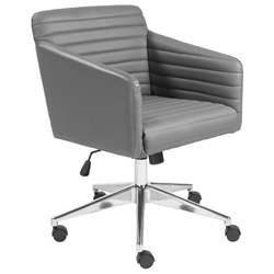 Kris Modern Gray Faux Leather Office Chair by Euro Style