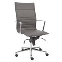 kyell high back office chair in gray