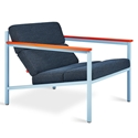 Gus* Modern x LUUM Halifax Arm Chair in Orange Pop Module Colors