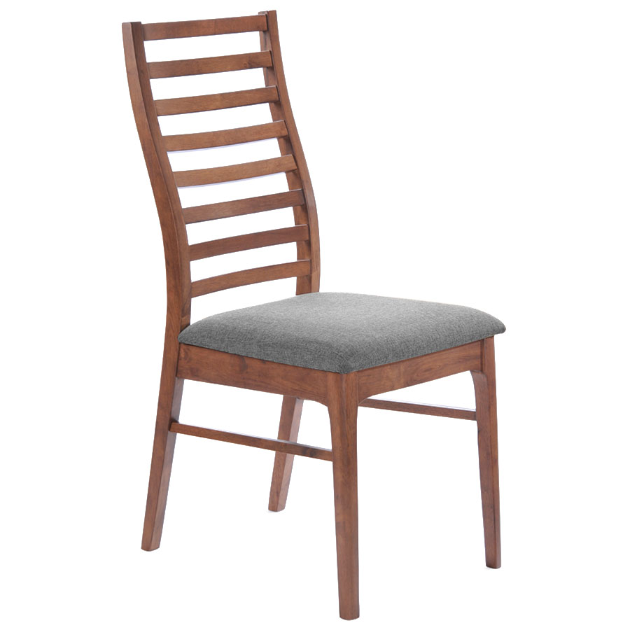 Lacrosse Modern Dining Chair with Gray Seat