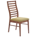 Lacrosse Modern Dining Chair with Green Seat