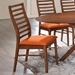 Lacrosse Contemporary Side Chair with Orange Seat