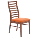 Lacrosse Modern Dining Chair with Orange Seat
