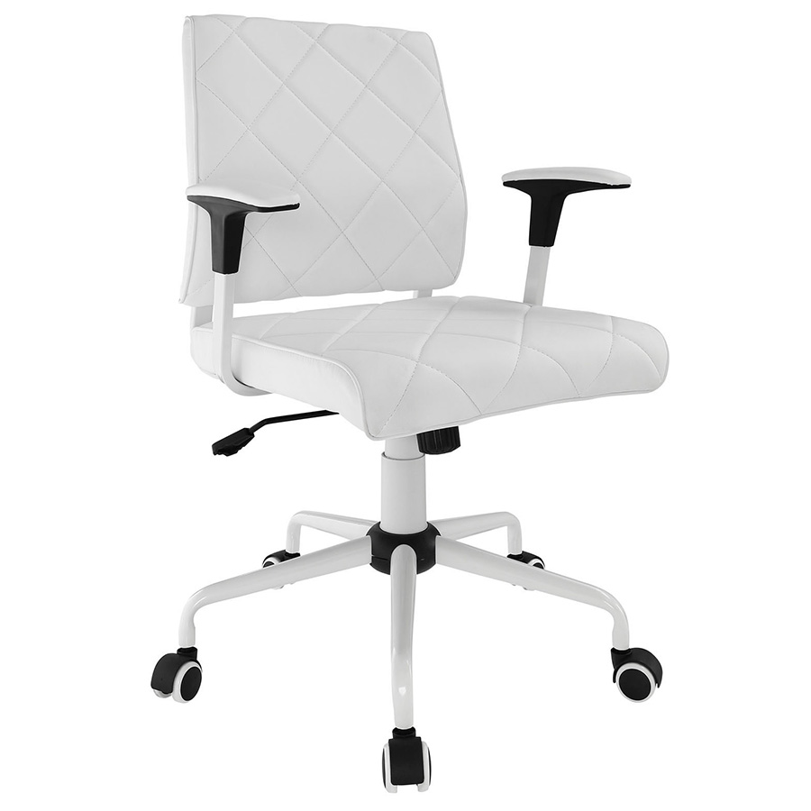Black and white office chair - Ladera Modern White Office Chair