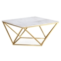 Legarde Modern Marble + Gold Coffee Table
