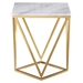 Legarde Modern Marble + Gold End Table