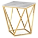 Legarde Modern Marble + Gold Side Table