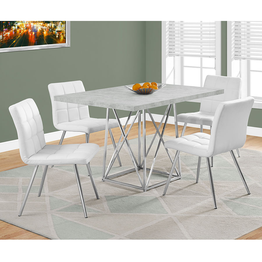 Modern Dining Tables Lagos Dining Table Eurway - Cement look dining table