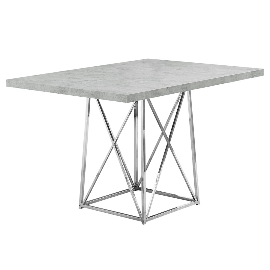 Lagos Modern Cement-Look Dining Table