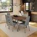 Linea Contemporary Dining Chair in Magnetite and Ritzy