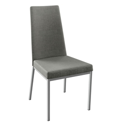 Linea Modern Dining Chair in Magnetite and Ritzy by Amisco