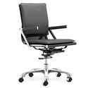 Lamar Black Modern Office Chair