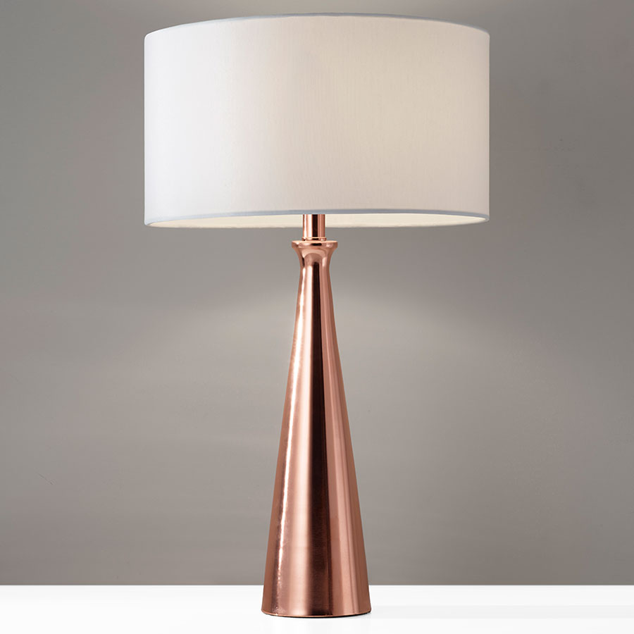 copper lamp jasper table
