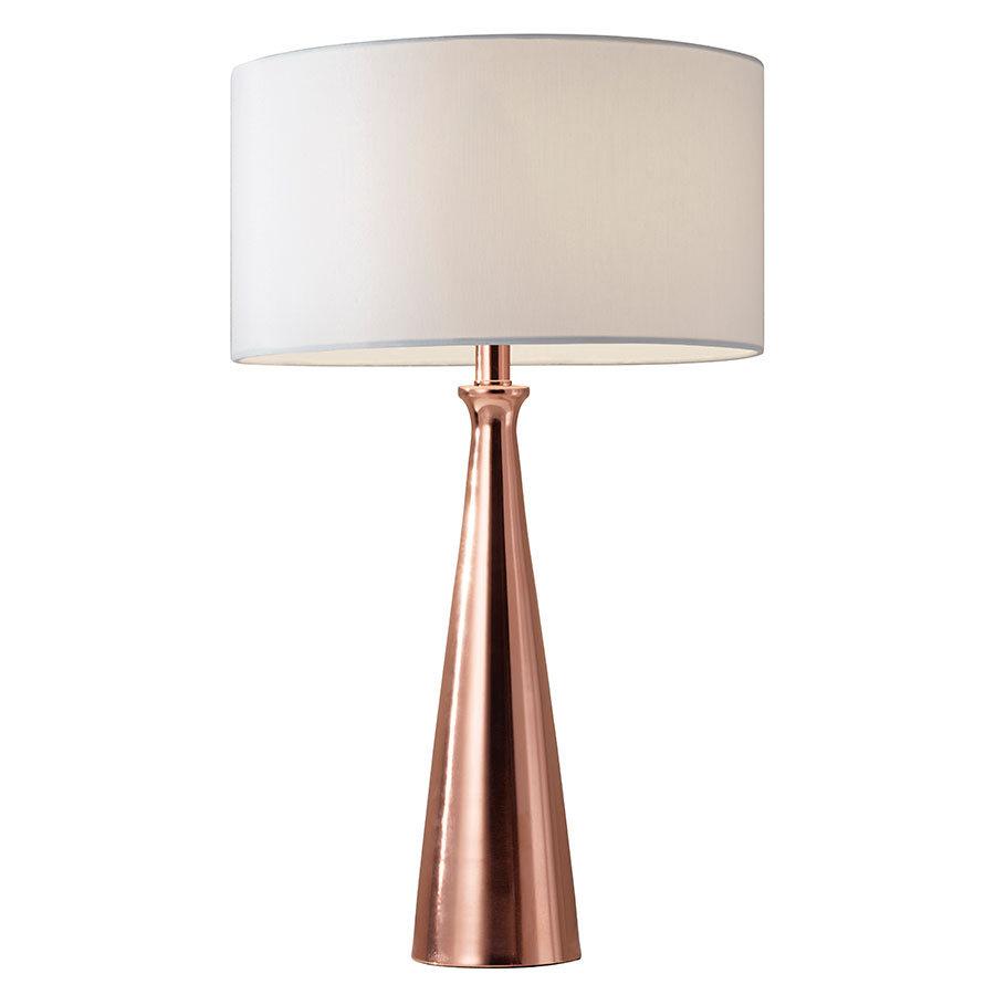 Lambert Modern Brushed Copper Table Lamp