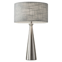 Lambert Modern Brushed Steel Table Lamp