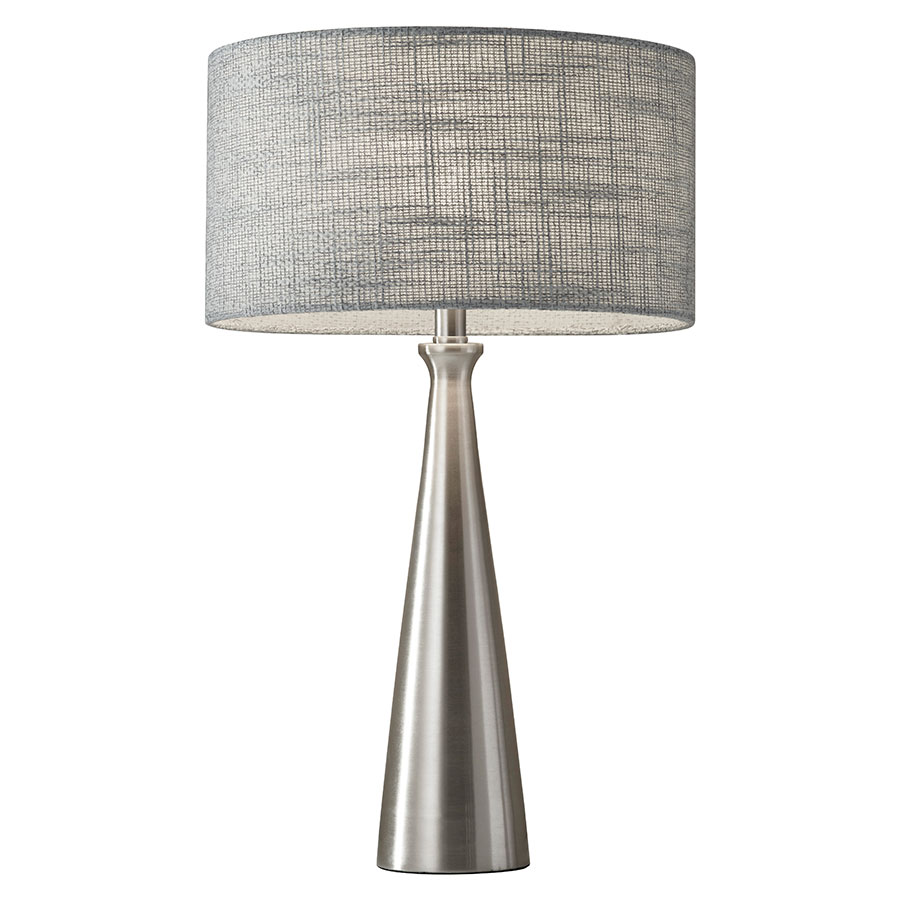 Lambert Modern Brushed Steel Table Lamp Eurway