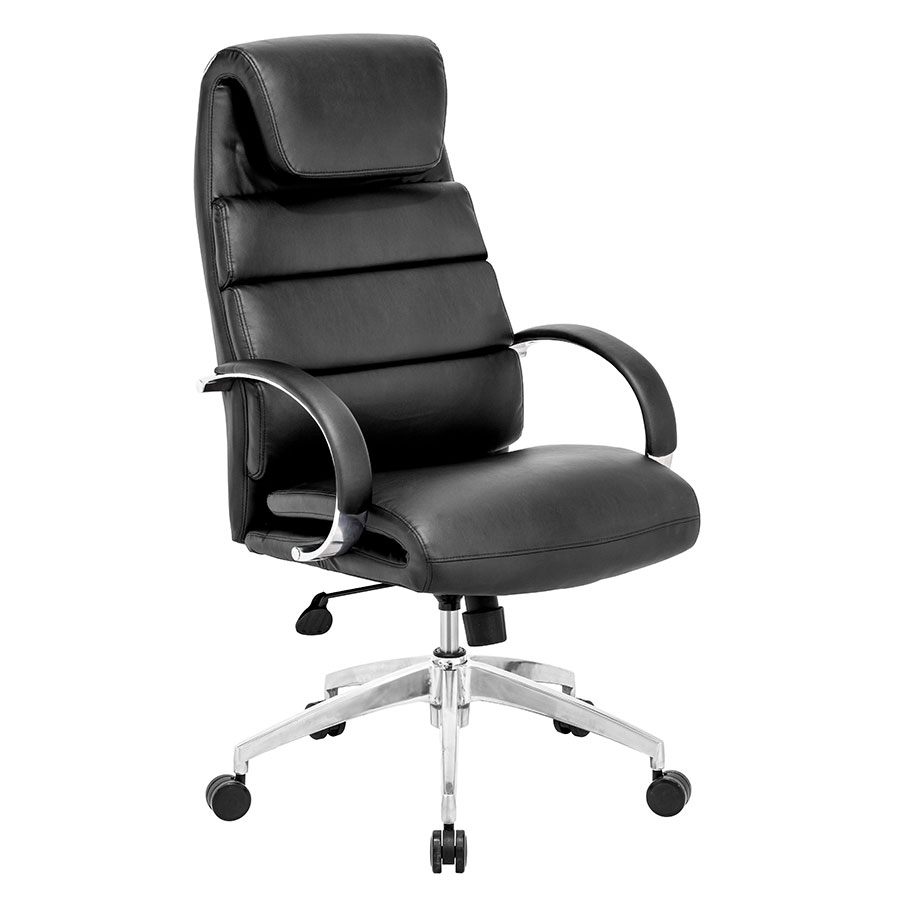Landis Black Executive Modern Office Chair