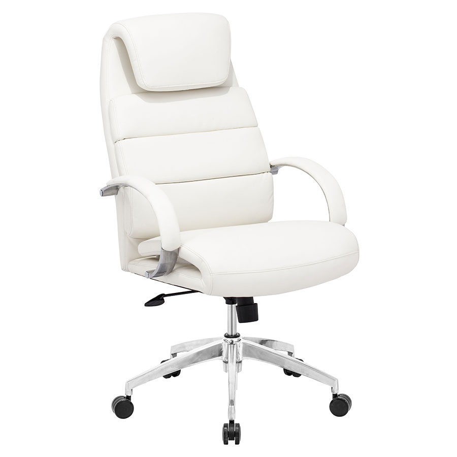 Landis White Executive Modern Office Chair