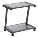 L-Series Modern Printer Cart in Black