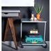 Landon Modern Silver Printer Storage Cart