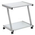 Landon Modern Printer Cart in Silver
