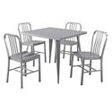 Landry Modern Square Dining Table + Chairs Set