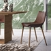 Modloft Black Langham Modern Dining Chair in Aged Mocha Leather - Lifestyle