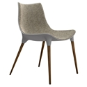 Modloft Black Langham Modern Dining Chair in Oatmeal Fabric