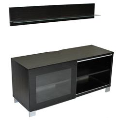 Lasso Modern Entertainment Center + Wall Shelf