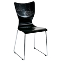 Laurel Black Dining Chair by Euro Style