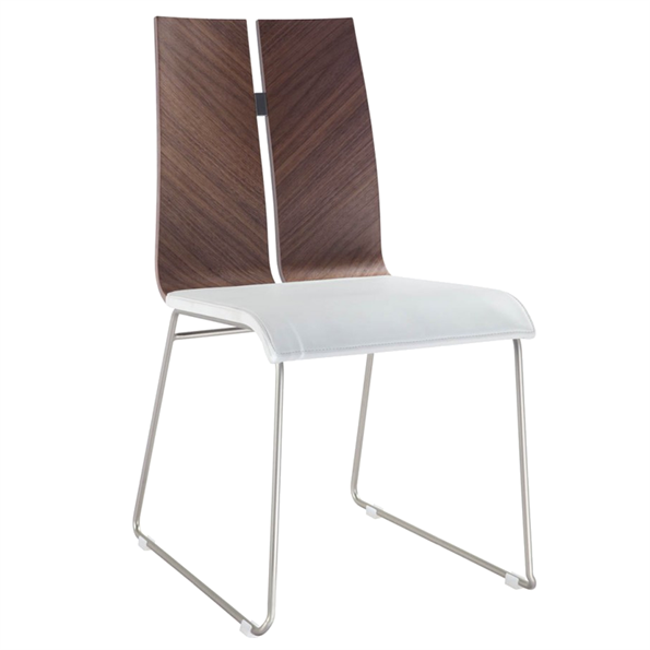 Lauren White Modern Dining Chair