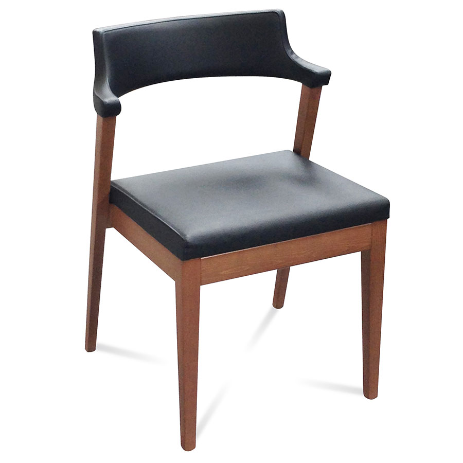 Modern dining chairs lawson black side chair eurway for Modern black dining chairs