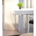 League Modern White Storage Desk