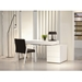 League Contemporary White Desk w/ Cabinet