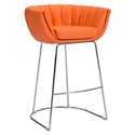 Leandra Orange Modern Bar Stool