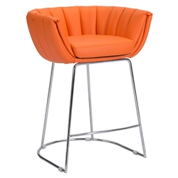 Leandra Orange Modern Counter Stool