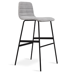 Lecture Modern Vintage Alloy Upholstered Bar Stool by Gus Modern