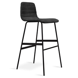 Lecture Modern Vintage Mineral Upholstered Bar Stool by Gus Modern