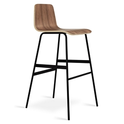 Lecture Modern Walnut Bar Stool by Gus Modern