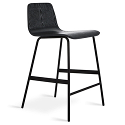 Lecture Modern Black Ash Counter Stool by Gus Modern
