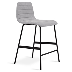 Lecture Modern Vintage Alloy Upholstered Counter Stool by Gus Modern