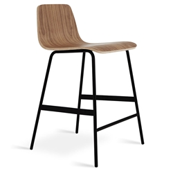 Lecture Contemporary Counter Stool by Gus Modern in Walnut