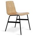 Lecture Contemporary Dining Chair by Gus Modern in Natural Ash